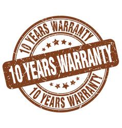 10 years warranty vector