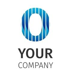 Abstract blue logo O vector image