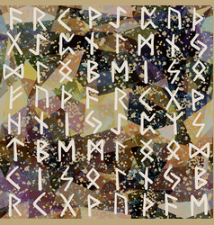 abstract seamless pattern runes grunge texture on vector image