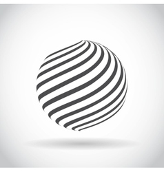 Abstract swirl sphere globe symbol vector image