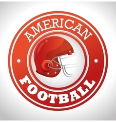 american football sport icon vector image