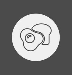 breakfast icon sign symbol vector image