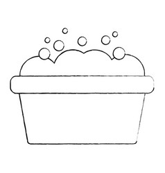 bucket washer foam soap clean vector image