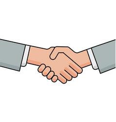 Business handshake greeting and agreement sign vector