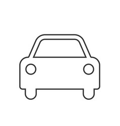 Car icon editable stroke vector