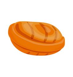 caramel icon cartoon style vector image