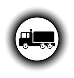 Cargo car button vector image