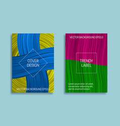 Colorful saturated backgrounds for cover design vector