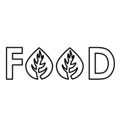 Couple of leaf icon Food design graphic vector