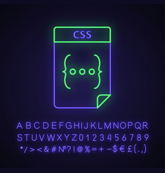 Css file neon light icon vector