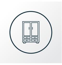 cupboard icon line symbol premium quality vector image