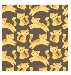 cute kitten pattern vector image