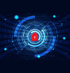 cyber security abstract technology concept world vector image