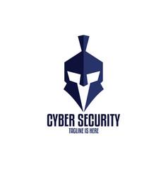 cyber security warriors logo vector image