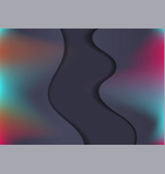 dark toned colorful holographic wavy background vector image
