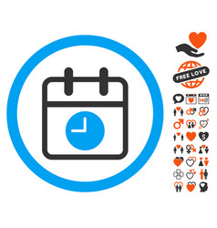Date and time icon with dating bonus vector