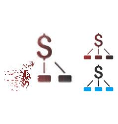 decomposed pixel halftone financial hierarchy icon vector image