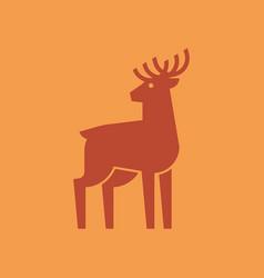 deer logo vector image