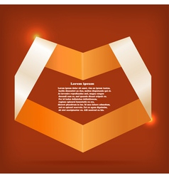 Design element in the shape of heart vector image