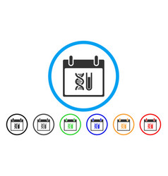 Dna analysis calendar day rounded icon vector
