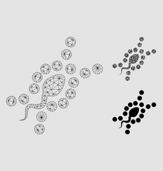 Dna replication mesh network model and vector