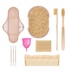 eco hygiene set vector image
