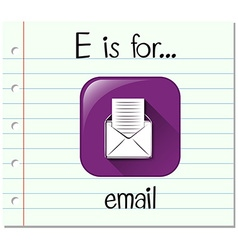 Flashcard letter e is for email vector
