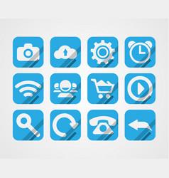 flat icons on white background vector image