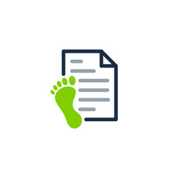Foot document logo icon design vector