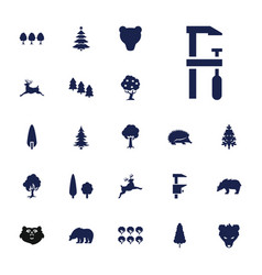 Forest icons vector