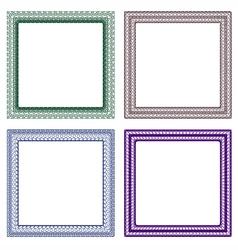 frame guilloche design vector image