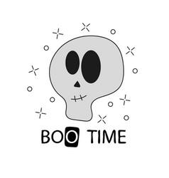 Funny skeleton print on t-shirts sweatshirt and vector