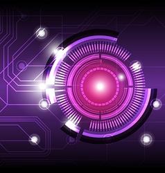 future digital button design background vector image