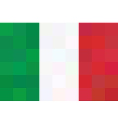 geometric background in Italy flag Unusual concept vector image