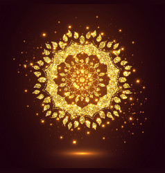glitter decorative mandala vector image