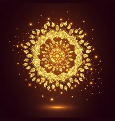glitter decorative mandala vector image