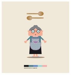 GRANNY TOY vector image