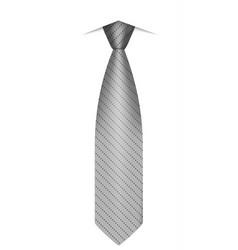 grey tie icon realistic style vector image