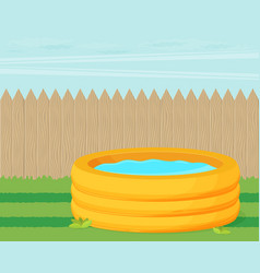 Inflatable pool flat design vector