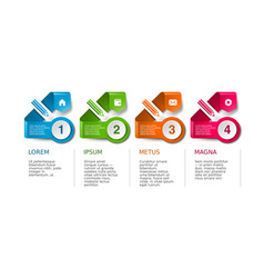 infographic timeline template with icon set vector image