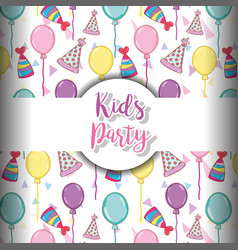 Kids party background vector