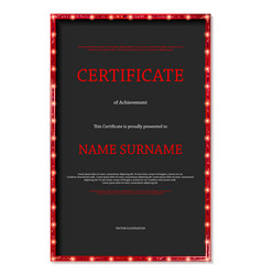 luxury certificate or diploma template vector image