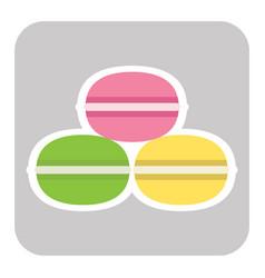 macaroon cookies flat design vector image
