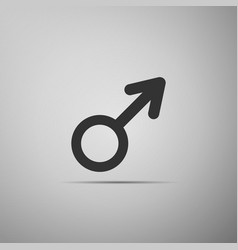 male gender symbol icon on grey background vector image