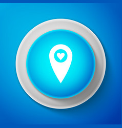 map pointer with heart icon isolated on blue vector image