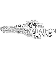 Marathon word cloud concept vector