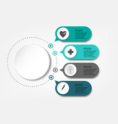 medical information display process chart vector image