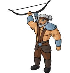 Medieval hunter vector