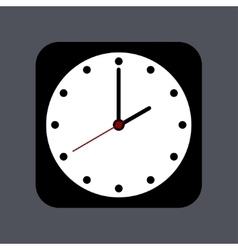 modern clock icon on gray vector image