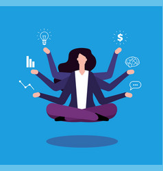multitasking businesswoman office manager vector image